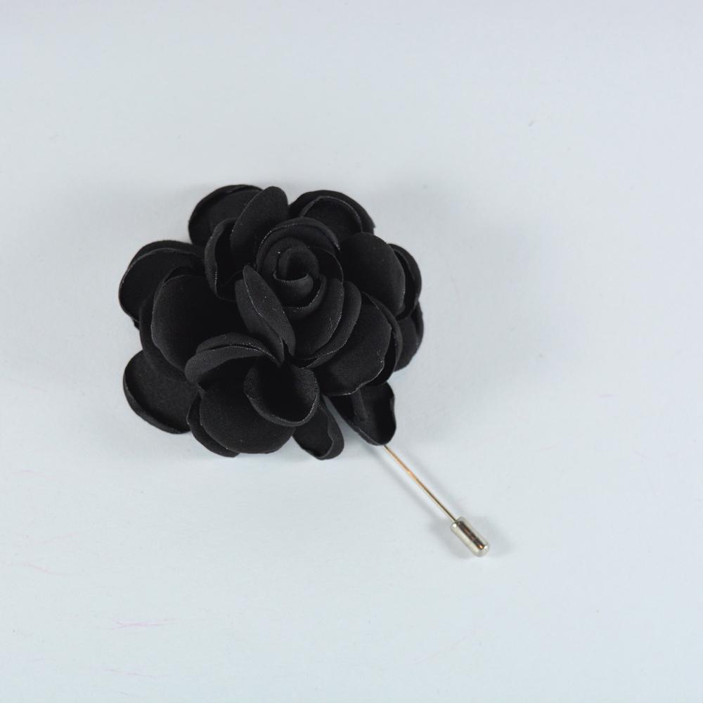 Καρφίτσα Πέτου Big Flower Black