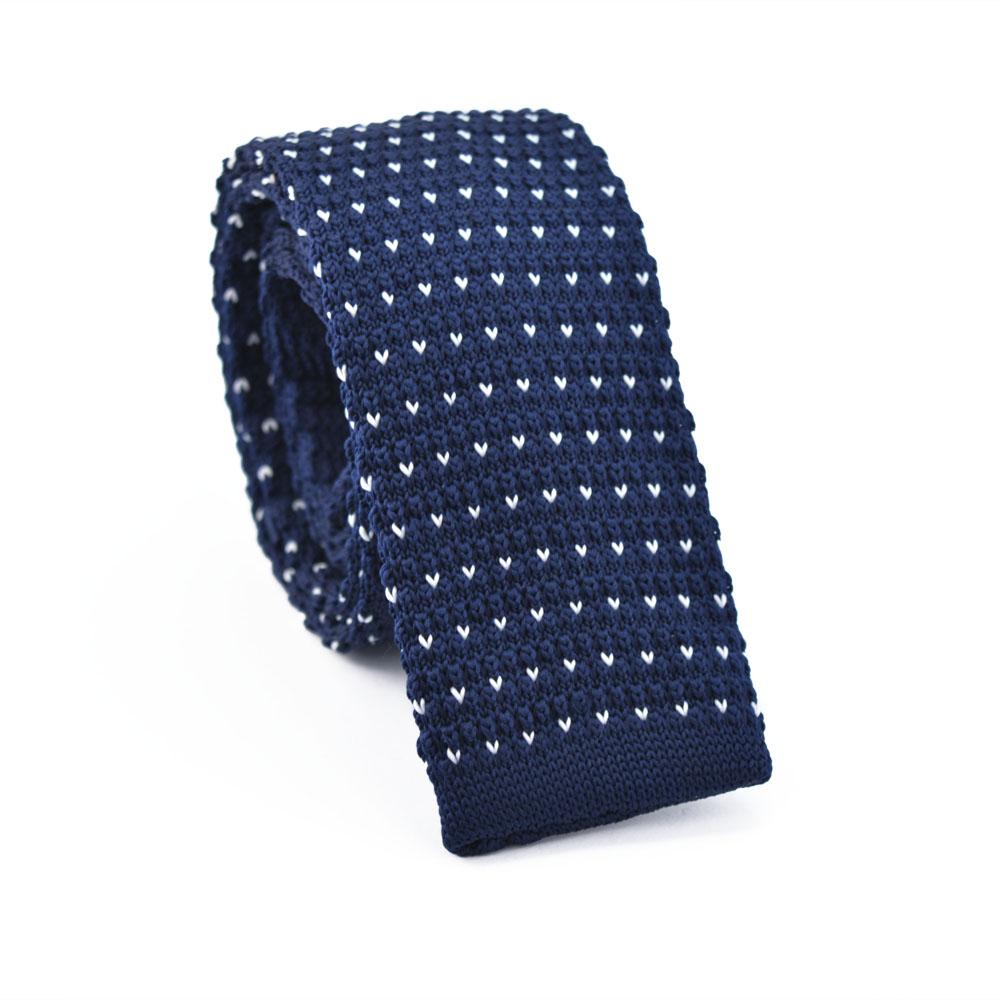 Πλεκτή Γραβάτα Rain Blue