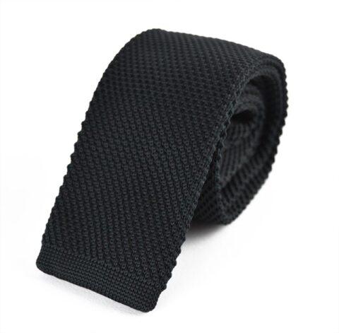 Black Knitted Silk