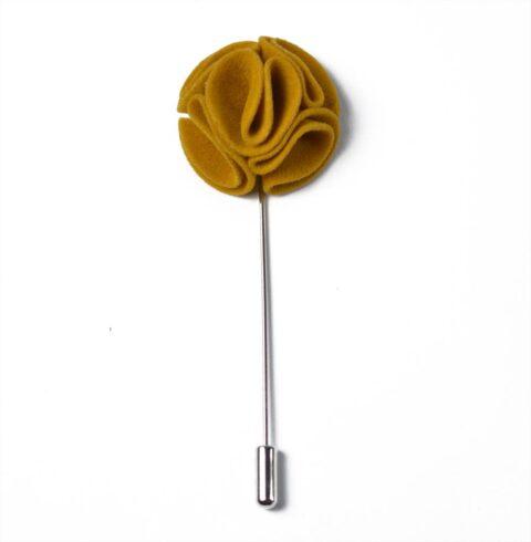 Καρφίτσα Πέτου Curvy Mustard