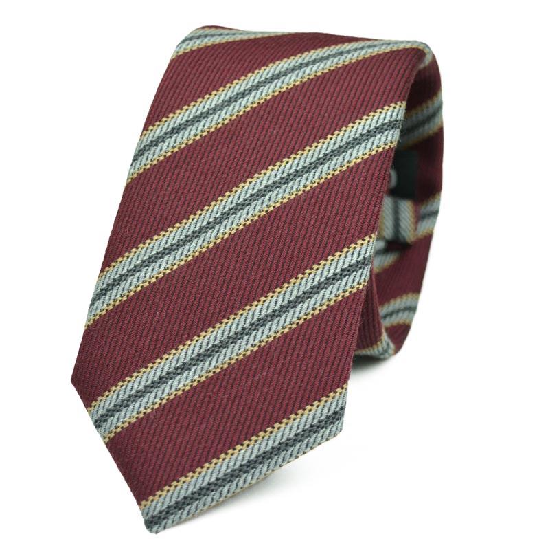 Γραβάτα από μαλλί και βαμβάκι Nile-Red
