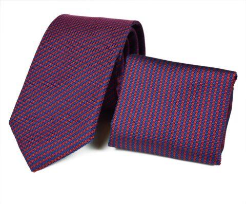 Μεταξωτό σετ γραβάτας Cherryset