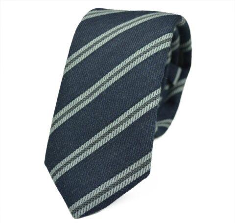 Γραβάτα από μαλλί και βαμβάκι Nile-grey