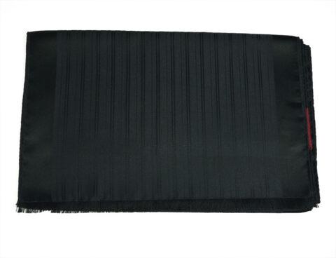 Μεταξωτό Φουλάρι Μαύρο Black-silk-lines