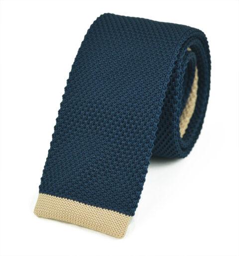 Πλεκτή Γραβάτα Βlue-bez