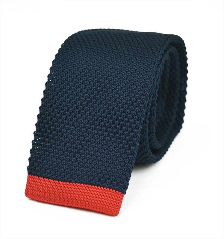Πλεκτή Γραβάτα Blue Red