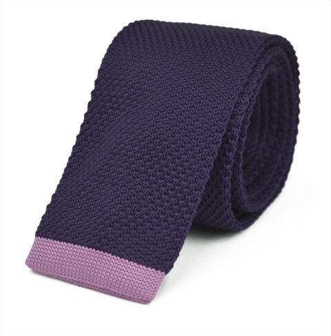 Πλεκτή Γραβάτα Purple