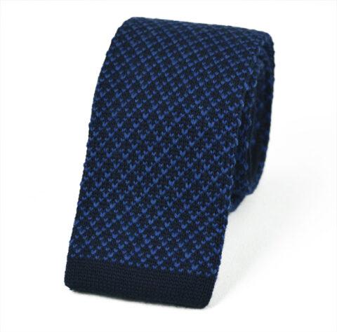 Μάλλινη Πλεκτή Γραβάτα wool-blue