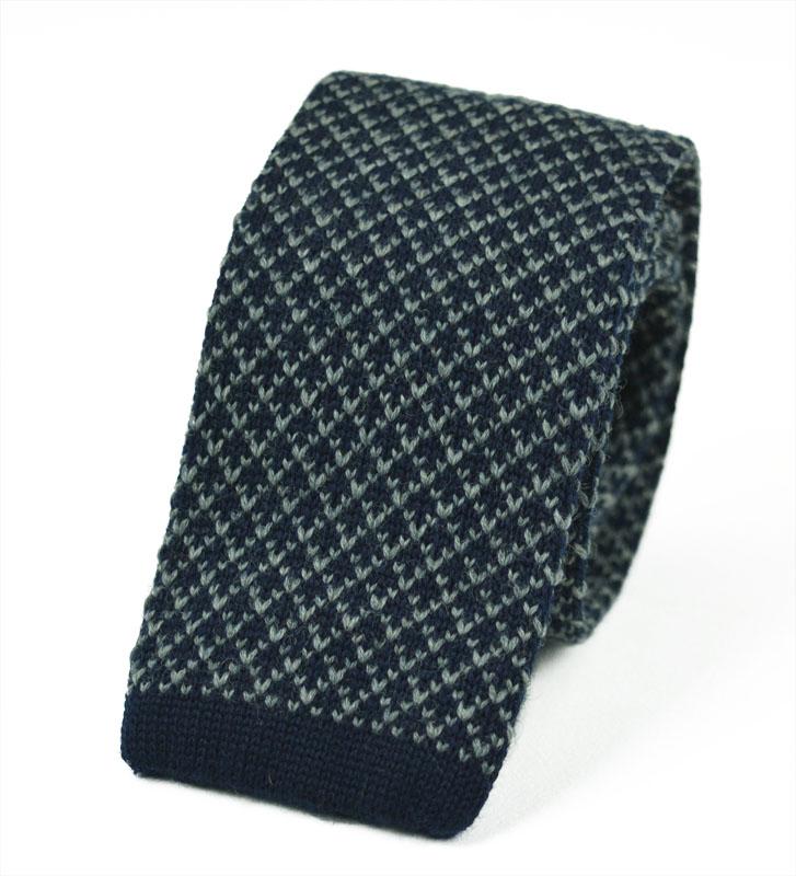Μάλλινη Πλεκτή Γραβάτα wool-grey
