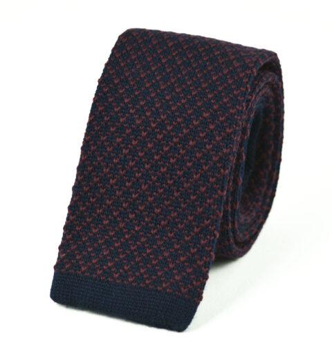 Μάλλινη Πλεκτή Γραβάτα wool-red