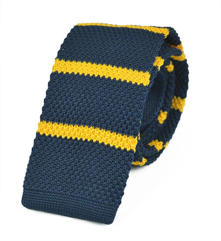Πλεκτή Γραβάτα Yellow-lines