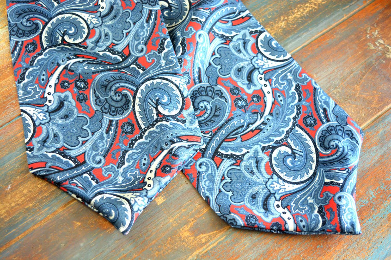 Ascot γραβάτα - Γραβατόνι κόκκινο-γκρι
