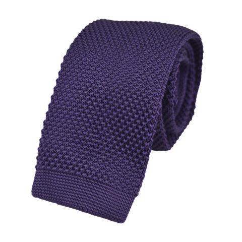 Πλεκτή Γραβάτα Μωβ