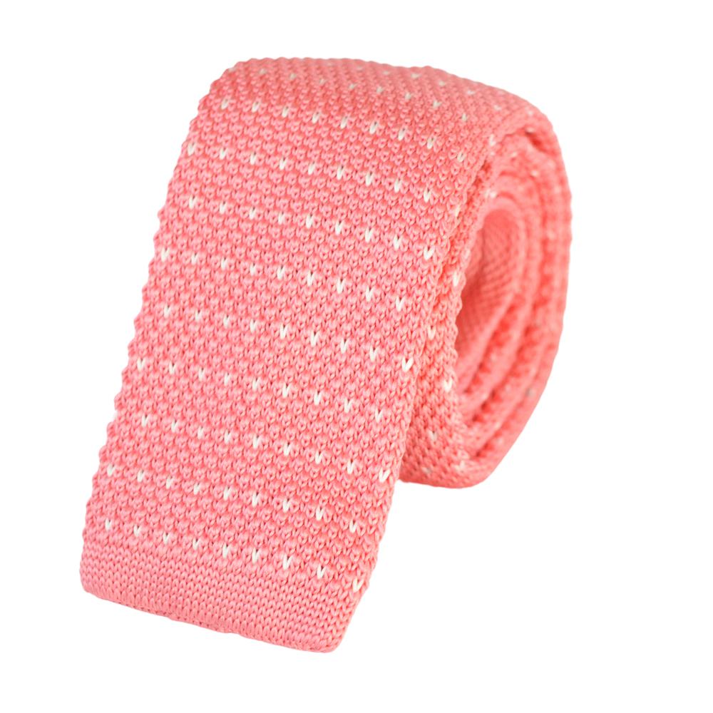 Πλεκτή Γραβάτα Ροζ
