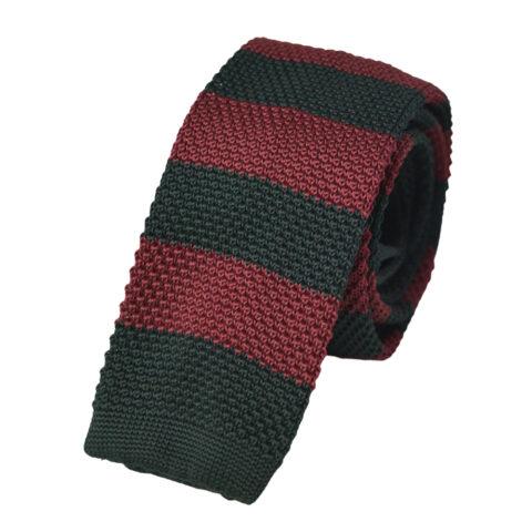 Πλεκτή Γραβάτα Μπορντό-Μαύρο