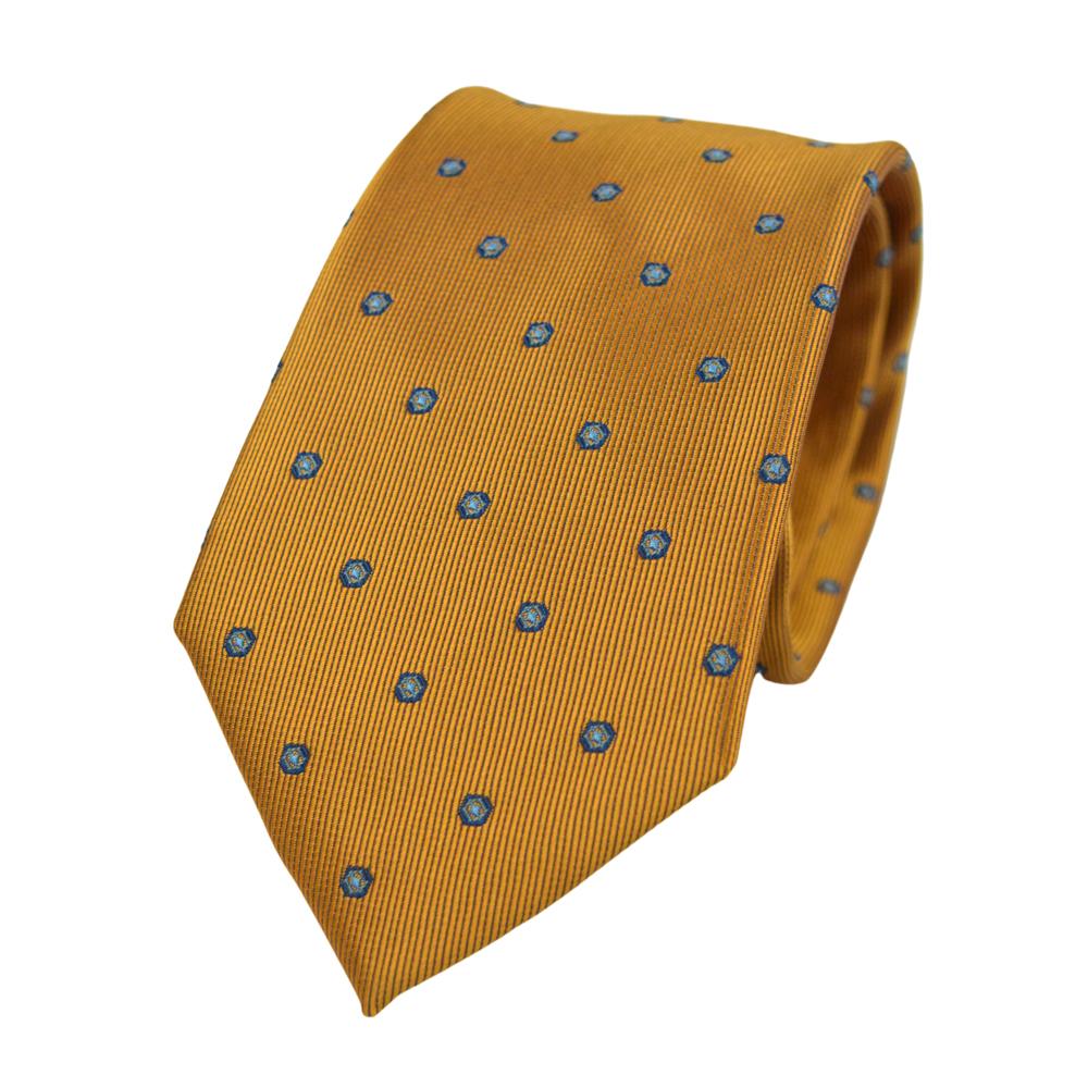 Γραβάτα πορτοκαλί με μικροσχέδιο