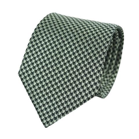 Μεταξωτή Γραβάτα Pierre Cardin άσπρο μαύρο- 9 cm