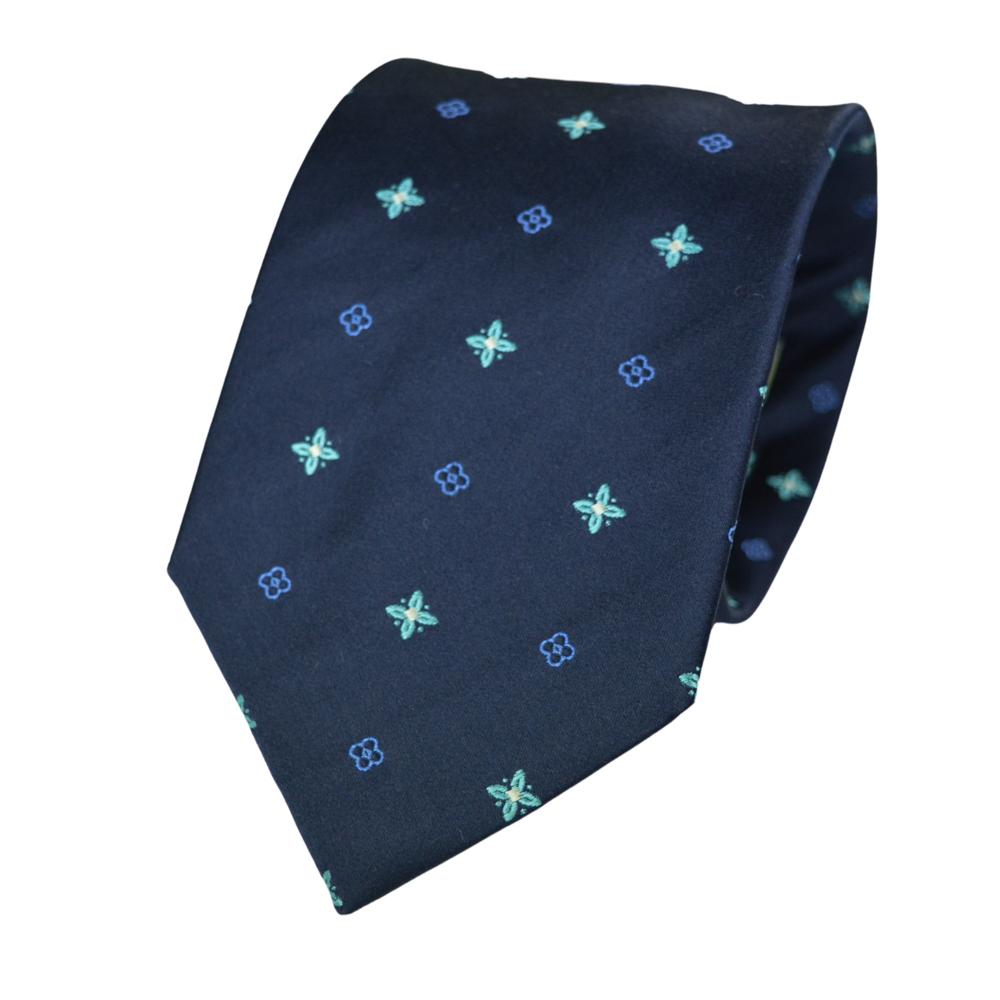 Μεταξωτή Γραβάτα Pierre Cardin μπλε σκούρο με σχέδια