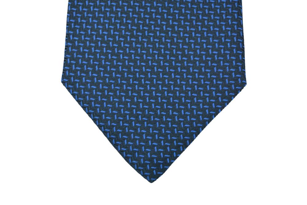 Μεταξωτή Γραβάτα Pierre Cardin μπλε με μικροσχέδιο - 9cm