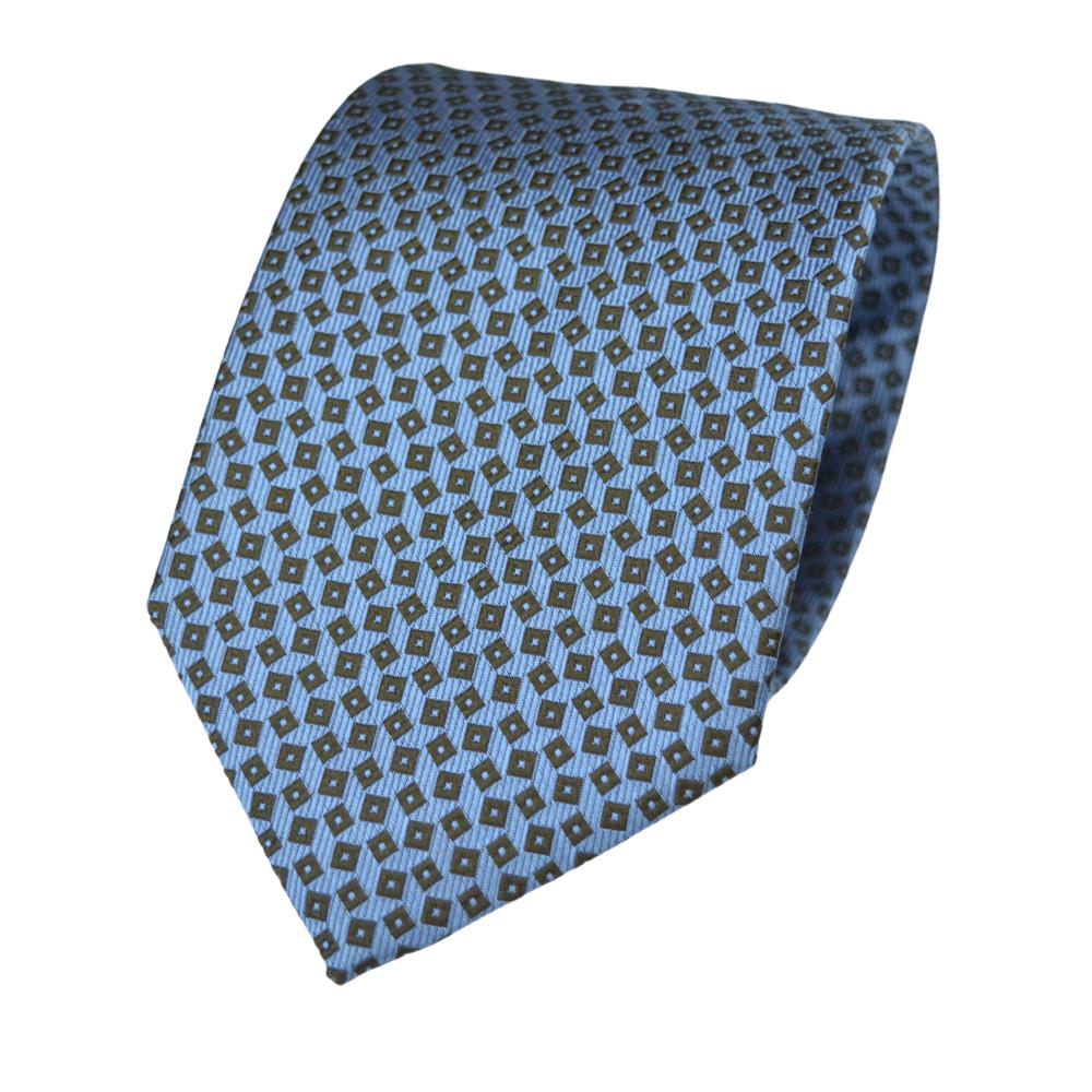Μεταξωτή Γραβάτα Pierre Cardin γαλάζια με μικροσχέδιο - 9 cm