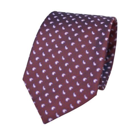 Μεταξωτή Γραβάτα Pierre Cardin κόκκινη με λαχούρι - 9 cm