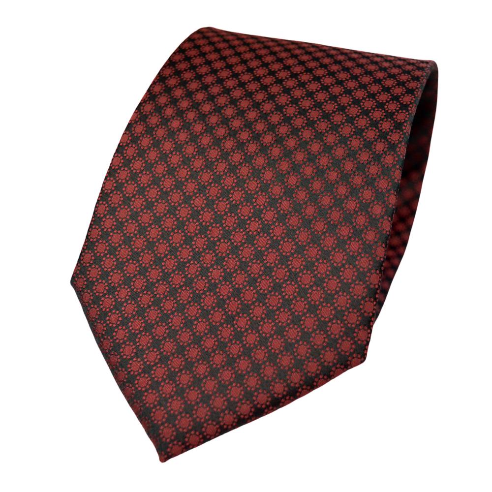 Μεταξωτή Γραβάτα Pierre Cardin κόκκινη με μικροσχέδιο - 9 cm