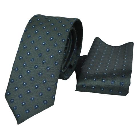 Μεταξωτή γραβάτα γκρι με μικροσχέδιο