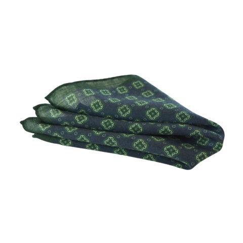 Μάλλινο Μαντήλι-Ποσέτ σε μπλε και πράσινο
