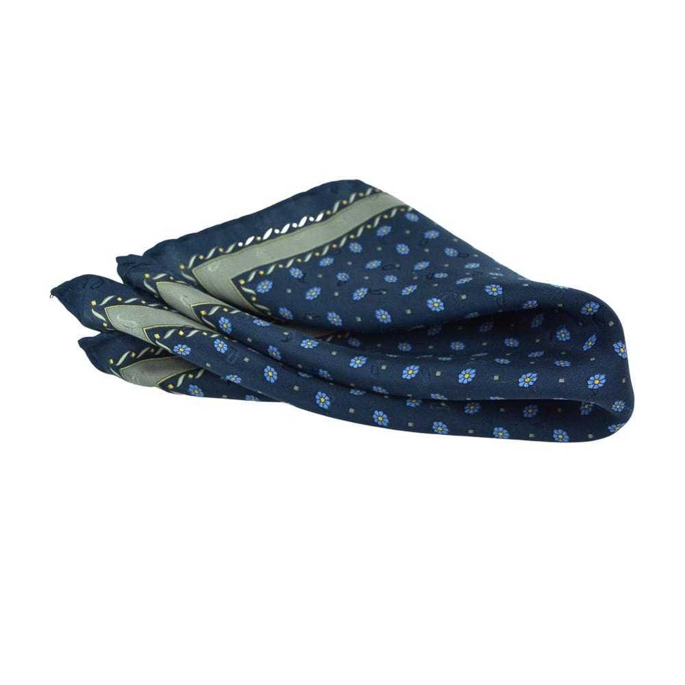Μεταξωτό ζακάρ Μαντηλάκι Luxurious Blue