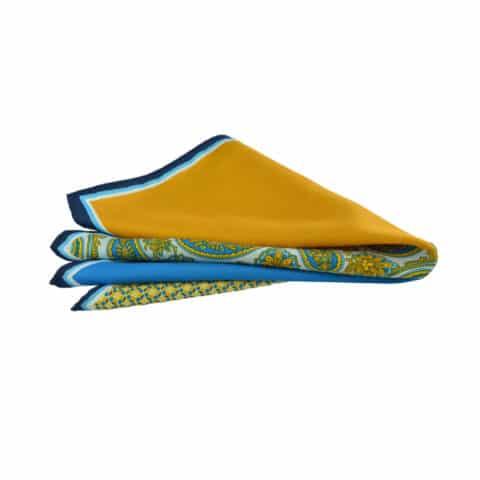 Μαντήλι κίτρινο-μπλε μεγάλο
