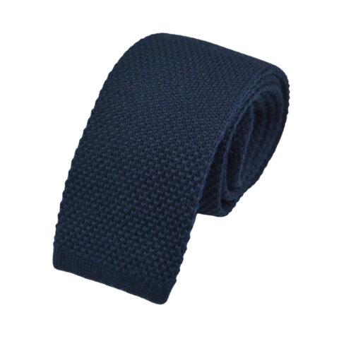 Μάλλινη Πλεκτή Γραβάτα Μπλε