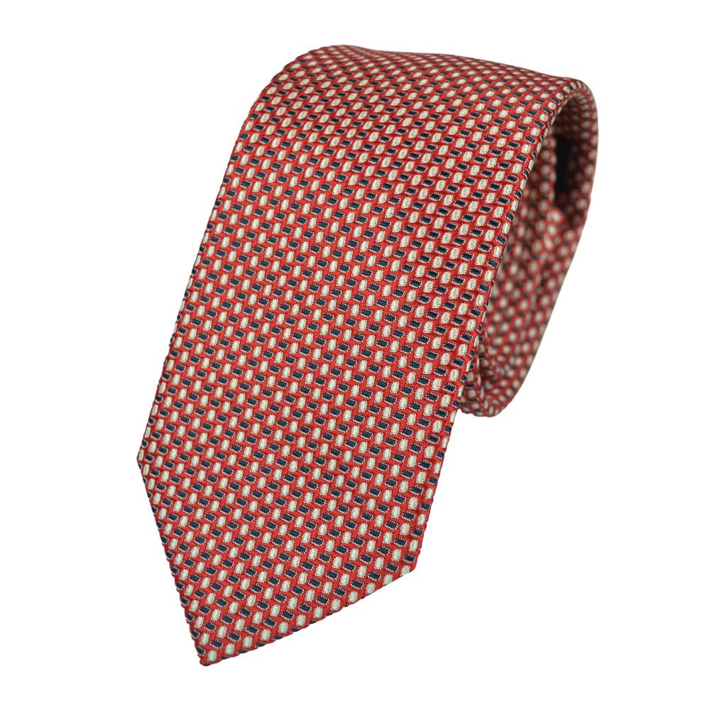 Μεταξωτή γραβάτα κόκκινη με μικροσχέδιο