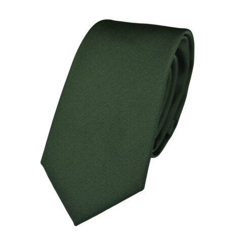 Μεταξωτή γραβάτα πράσινη-χακί