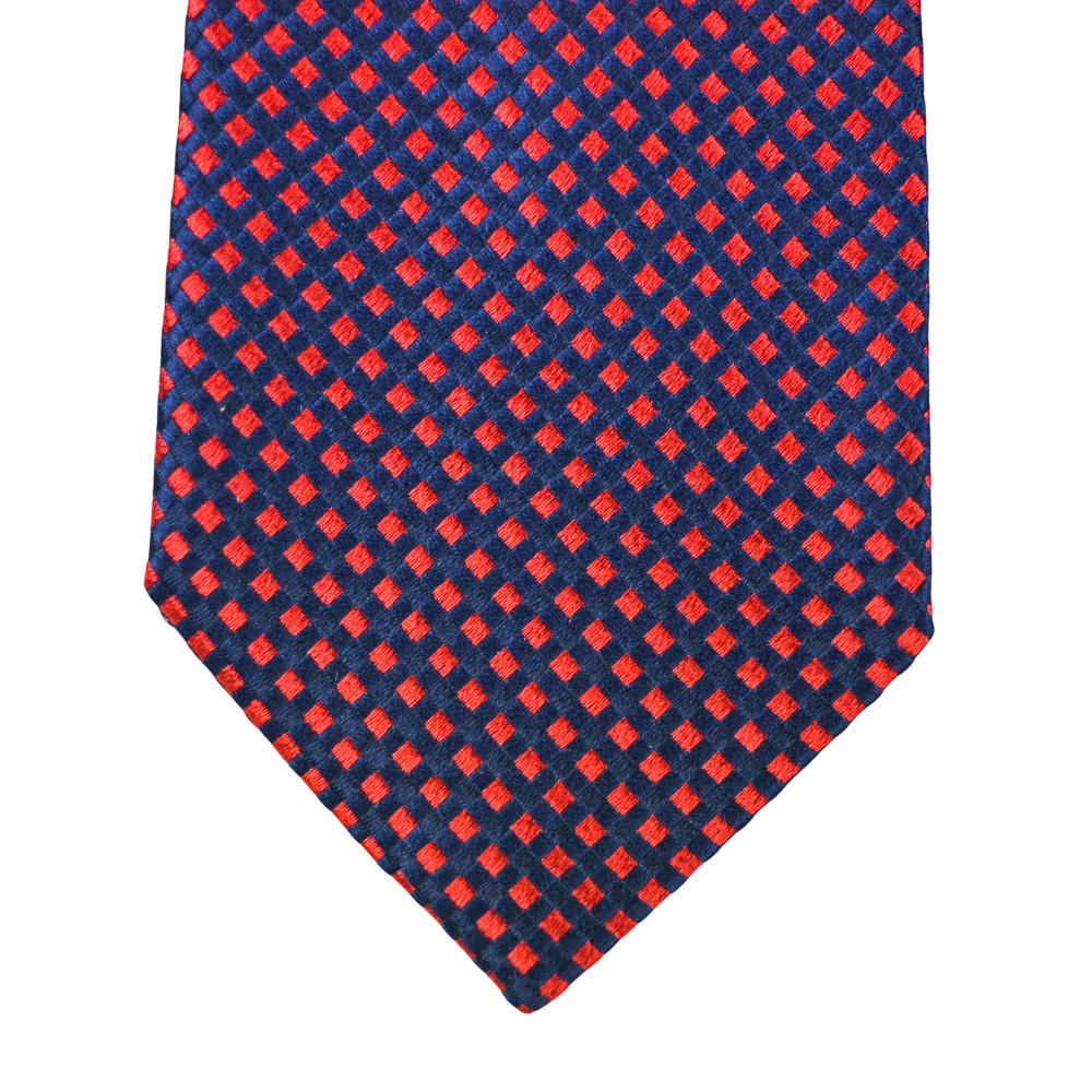 Μεταξωτή γραβάτα κόκκινο-μπλε
