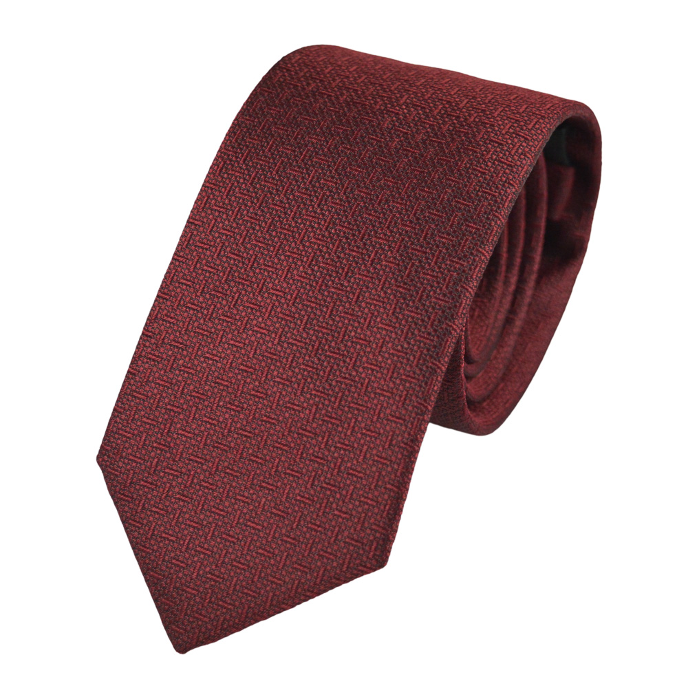 Μεταξωτή γραβάτα σε μπορντό με μικροσχέδιο
