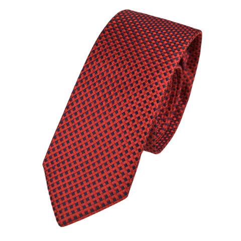 Μεταξωτή γραβάτα κόκκινο με μπλε