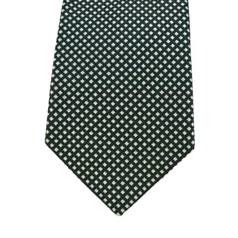 Μεταξωτή γραβάτα λευκό με μαύρο