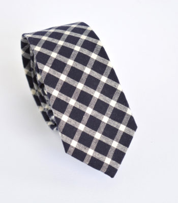 Black Checks Tie