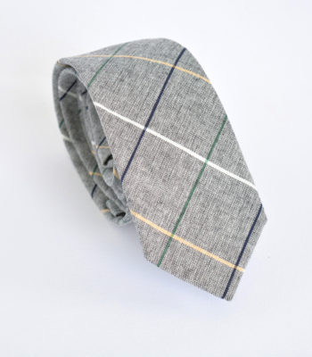 Grey Checks Tie