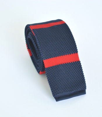 Red Lines Knitted Tie