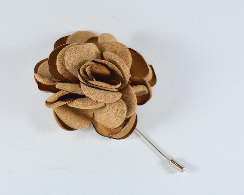 Καρφίτσα Πέτου Big Flower Beige