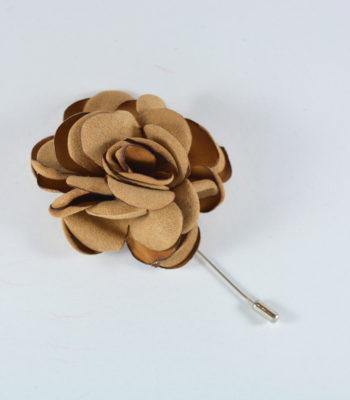 Lapel Pin Big Flower Beige