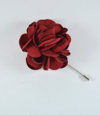 Lapel Pin Big Flower Red