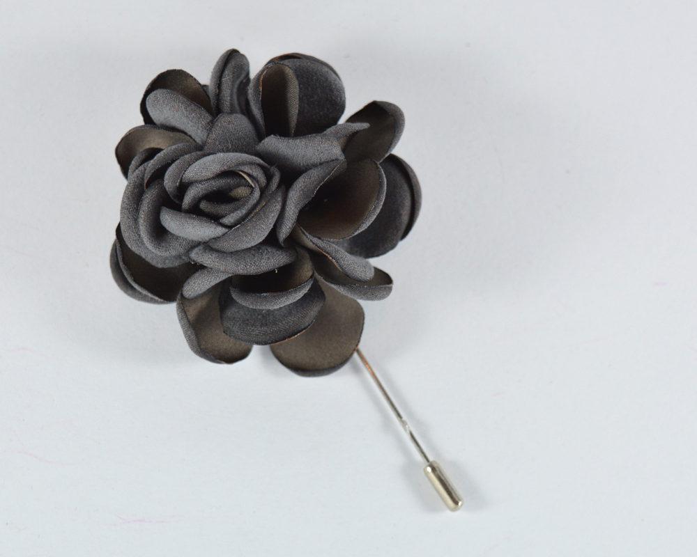Καρφίτσα Πέτου Big Flower Grey