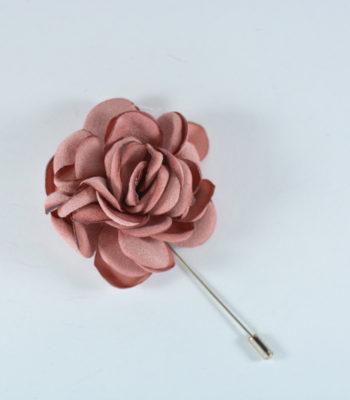 Lapel Pin Big Flower Pink