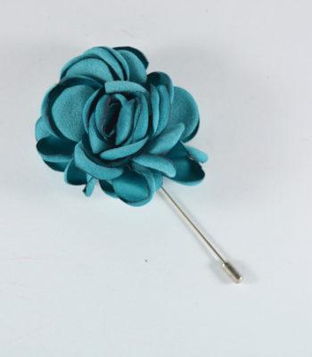 Lapel Pin Big Flower Turkuaz