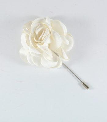 Lapel Pin Big Flower White