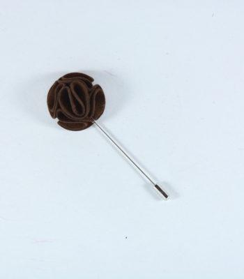 Lapel Pin Curvy Brown