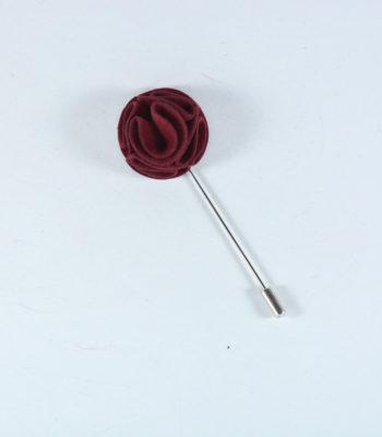 Lapel Pin Curvy Deep Red
