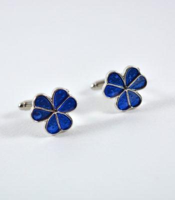 Blue Clover Cufflinks